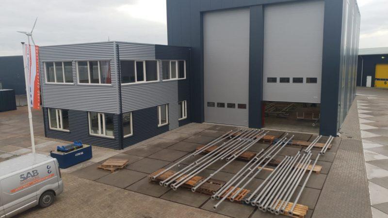 Nieuwe bedrijfshal SAB Harlingen